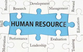 Puzzle mit allen Human Resource Bereichen